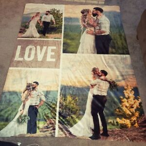 Fast Delivery Custom Photo Blanket Personalized Family Memories Gift Blanket