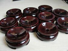 5Pcs Patina Wood tower Stand pedestal Holding CRYSTAL Sphere USE 60-80MM Hot