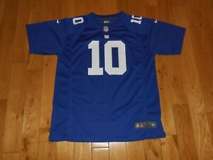 Nike On Field ELI MANNING Blue NEW YORK GIANTS Youth NFL Team Replica JERSEY XL