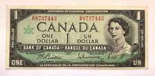1967 Canada One Dollar Banknote 1867-1967 Centennial of Canadian Confederation