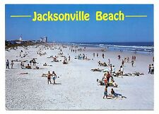 Jacksonville Beach Florida Postcard Sand For Miles East Coast Tropical Unposted