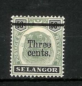 MALAY   STATES   SELANGOR   OVERPRINT   MH*