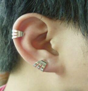Men Women Fashion Stylish Unisex Ear Cuff Ear Clip Silver 1PC