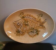 Retro Sado International Portuguese Hand Painted Oval Fish Plate