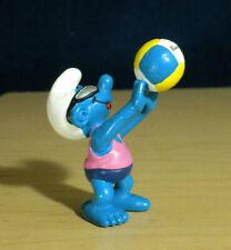 Smurfs 20477 Beach Volleyball Smurf Vintage Figure PVC Sports Toy Figurine Peyo
