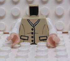 Lego Minifig Torso Tan Button Down Vest - New