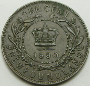 NEW FOUNDLAND (Canadian Province) 1 Cent 1880 - Bronze - Victoria - VF - 1051 ¤