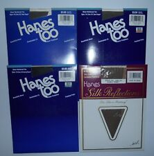 (4) Vintage Hanes Too Pantyhose Size Cd 1994 New Old Stock