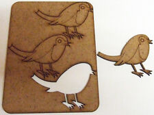 3 Robin Shapes 55mm x 70mm 2.2mm MDF