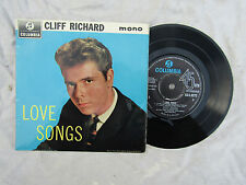 CLIFF RICHARD EP LOVE SONGS columbia seg 8272.....45rpm pop