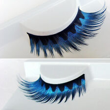 Blue Color Exaggerated False Eyelashes Special Long Fake Eye lashes for Tableaux
