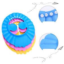 1x Adjustable Bathing Shower Shampoo Water Cap Ear Hat Hair Shield For Baby Kids
