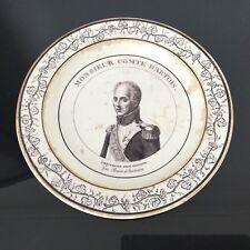 Assiette Monsieur Comte d'Artois Faïence Fine Début XIXè CHOISY PLATE 19thC