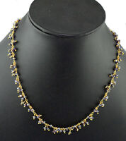 Attractive Mystic Quartz Rosary Beaded Dangle Necklace Wire Wrapped Beaded Chain