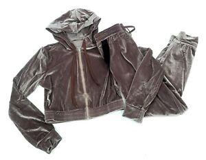 Unbranded Womens Track Pants Suit Velour Velvet Cropped Hoodie Sweatpants Jogger