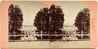 Bruxelles Palais Da La Nation Belgium Fotografia Stereo Vintage Albumina