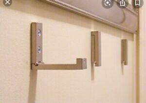 IKEA Bjarnum Folding Wall Hook Sliver Stainless Steel