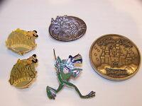 DISNEYLAND PINS AND 45 YEAR COIN GOOFY MICKEY NEW ORLEANS SQUARE
