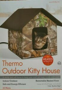 K&H Outdoor HEATED Kitty House Cat Bed Waterproof w/ Heated Pad