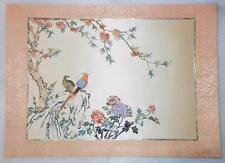 VINTAGE CHINESE HANDCRAFTED ON SILK BIRDS PAPER ART - VERY RARE - LB-C1321