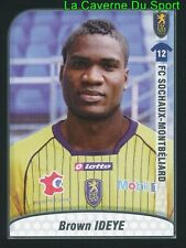 BROWN IDEYE NIGERIA FC.SOCHAUX XAMAX.FX WBA UPDATE STICKER FOOT 2010 PANINI