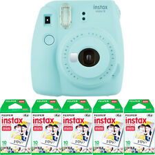 Fujifilm instax mini 9 Instant Film Camera Ice Blue + 50 Fuji Mini Prints