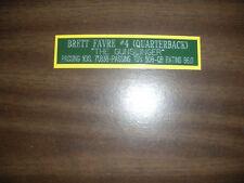 BRETT FAVRE (PACKERS) CAREER NAMEPLATE FOR SIGNED BALL CASE/JERSEY CASE/PHOTO