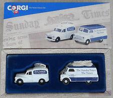 CORGI The Times classic set Morris Minor van, Bedford CA 97740 in original box