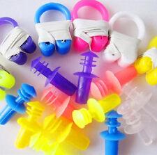 2Pcs Soft Water Sport Swimming Nose Clip 4x Ear Plug Hotsale Brand New