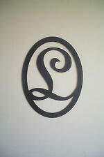 Black Wood Initial (Letter L) Wall Decor Sign