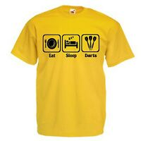 EAT SLEEP PLAY DARTS T-SHIRT GIFT ALL SIZES & COLOURS