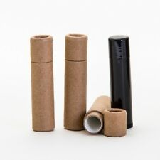 Eco Friendly 1/5 OZ  (16mm x 65mm) Kraft Lip Balm Push Up Tubes x 50