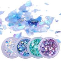 4 Boxes/Set Fluoreszierende Pailletten Glaspapier Maniküre-Dekor Nail Glitter