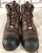 Red Wings Boots ASTM-F-2892-11-EH Men size 11. USA CHORE WORK DISTRESSED