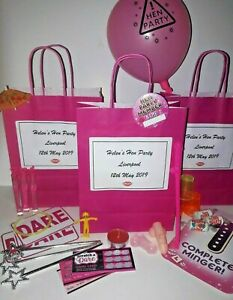 **Filled*Personalised Hen Do**gift bags*favours*CHOOSE OWN FILLINGS!**