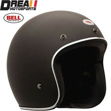 BELL CUSTOM 500 CARBON MATTE FLAT BLACK OPEN FACE MOTORCYCLE HELMET DOT XS - XXL