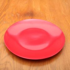 "Red Plastic Dinner Plate 11"""