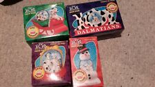 101 Dalmations 1996 McDonald's Snow Globes Complete Set Of 4 With Boxes