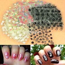 Lot 10 Feuilles Stickers 3D Nail Art Ongle Accessoire Décoration Manucure Beauté