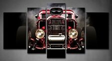 Framed Wall Art Decor Red Auto Black Painting Picture Canvas Print Car Pictures
