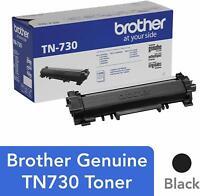 Brother Genuine TN730 Black Toner Cartridge for DCP L2550DW HL L2350DW L2370DW +