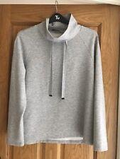 Monari Grey Sweatshirt Size 16 With Sparkly Ties