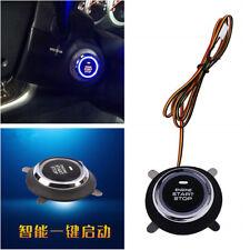 Universal Car SUV Blue LED Engine Start Push Button Switch Ignition Starter Kit