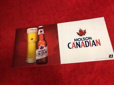 2006 Molson Canada beer sign banner garage cabin man Cave dorm room Advertising