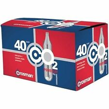 Crosman 12g Powerlet CO2 Cartridges Frustration Free Packaging 40 Count, NEW
