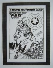 Original Production Art AVENGERS #10 Captain America Pin-Up, JACK KIRBY art