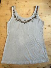 Mogul Superior Shirt Top Gr XS Pippa Vintage Jersey Grey Strass Perlen Besatz 1A