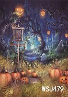 5X7FT Halloween Thin Vinyl Studio Backdrop Photography Photo Background WSJ479