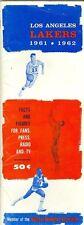1961 - 1962 Los Angeles Lakers Press Media Guide rare NBA3