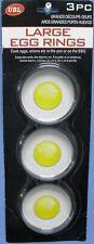 Nonstick Metel Egg Ring 3Pk  EGG FRYING RINGS Circle Round Fried Egg
